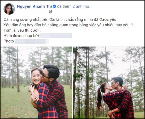 Khánh Thi chia sẻ về tình yêu