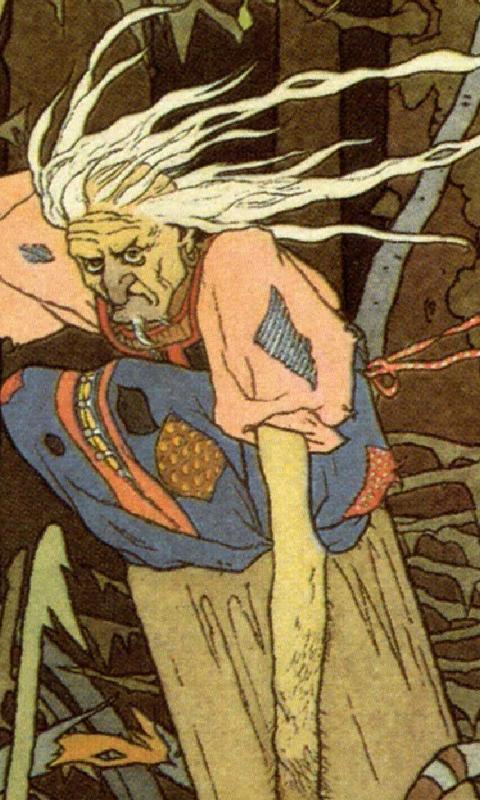 Baba Yaga có ngoại hình đáng sợ