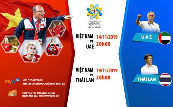 Tuyển Việt Nam đụng độ UAE và Thái Lan trong tháng 11/2019