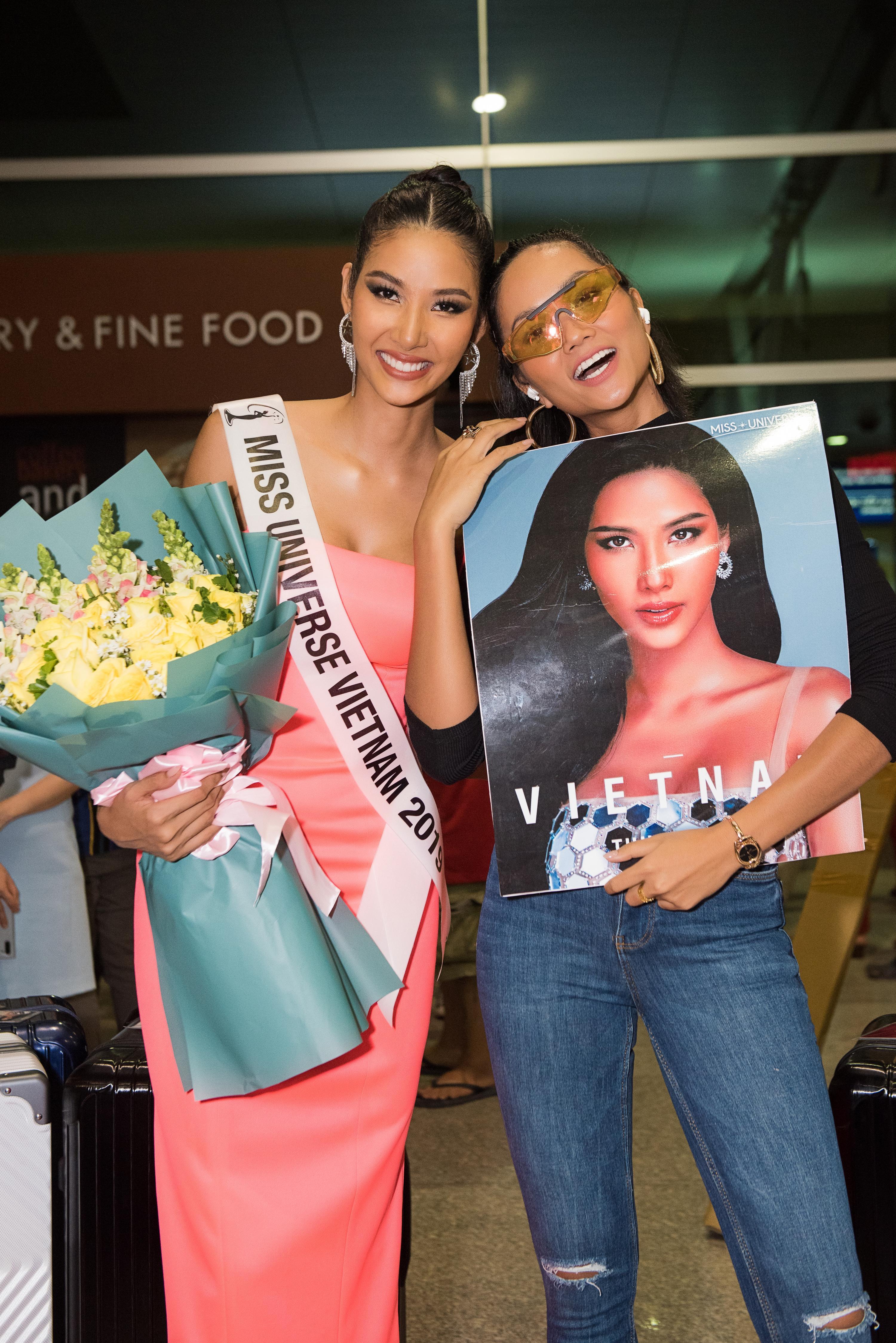 Hoa hậu Hoàn vũ H'Hen Niê có mặt để tiễn Hoàng Thùy