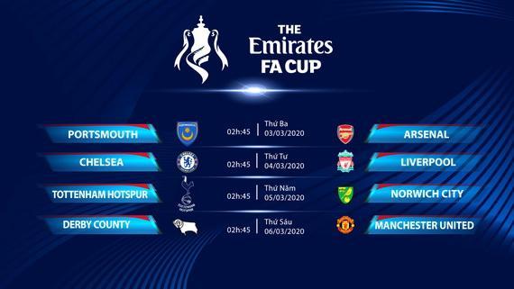 Lịch thi đấu vòng 5 cúp FA