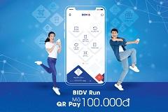 Tặng 100 nghìn khi các runner thanh toán QR pay trên BIDV smartbanking