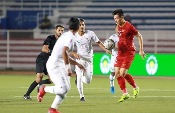 Chiến thắng trước U22 Indonesia đã tiếp thêm sức mạnh cho U22 Việt Nam. Ảnh: VFF