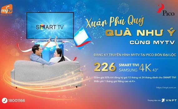Nhiều phần quà hấp dẫn đang chờ đợi khách hàng khi mua sắm tại Pico và lắp đặt truyền hình MyTV