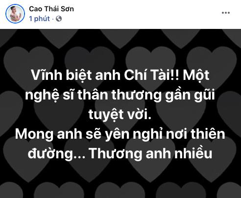 Cả showbiz Việt bàng hoàng khi hay tin NS Chí Tài qua đời: Đông Nhi lặng người, Ngô Kiến Huy, Noo Phước Thịnh đau buồn gửi lời tiễn biệt - Ảnh 10.