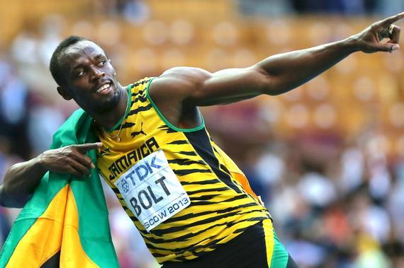 Usain Bolt khi còn thi đấu đỉnh cao
