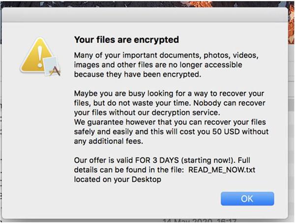 Phát hiện loại mã độc tống tiền mới nhắm vào người dùng Mac