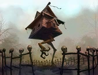 Baba Yaga sống trong một căn nhà có đôi chân có thể di chuyển