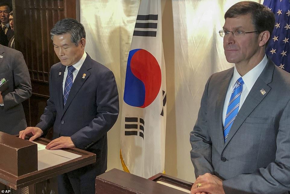 Mỹ và Hàn Quốc thông báo hủy tập trận chung