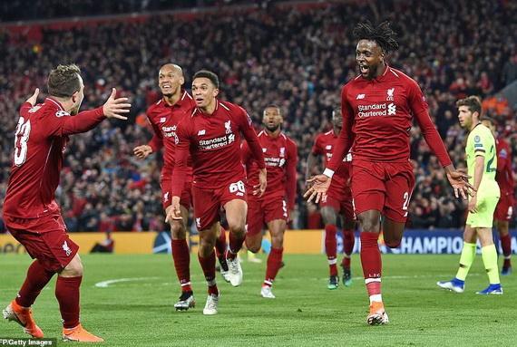 Liverpool ngược dòng thành công trước Barcelona để ghi danh vào trận chung kết Champions League