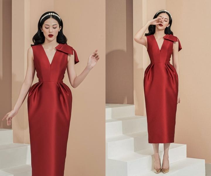 Đỗ Mỹ Linh, Tiểu Vy diện đầm xẻ ấn tượng