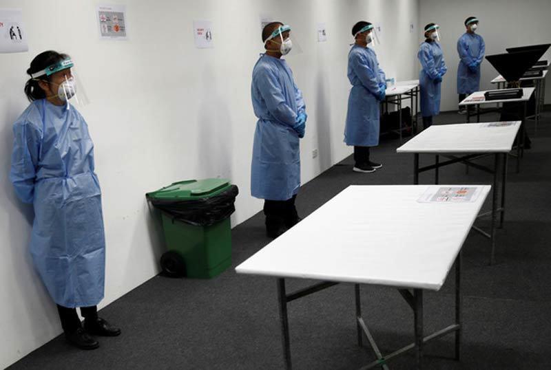 Số ca Covid-19 tăng không ngừng, Singapore lập một loạt bệnh viện dã chiến