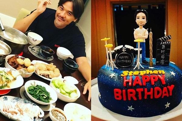Chồng Thư Kỳ hạnh phúc đón sinh nhật giản dị bên vợ