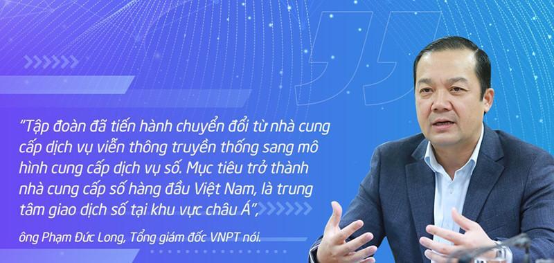 Ông Phạm Đức Long, Phụ trách Hội đồng thành viên, Tổng Giám đốc Tập đoàn VNPT đã chỉ rõ những quyết sách hành động của VNPT để Tập đoàn có được những kết quả ấn tượng như ngày hôm nay.