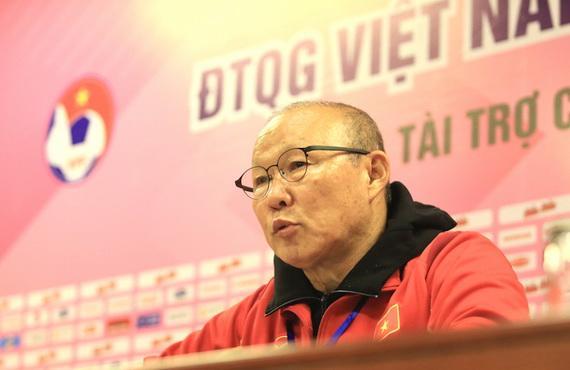 HLV Park Hang Seo phát biểu sau trận đấu