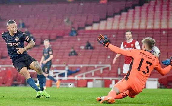 G.Jesus ghi bàn mở tỉ số cho Man City
