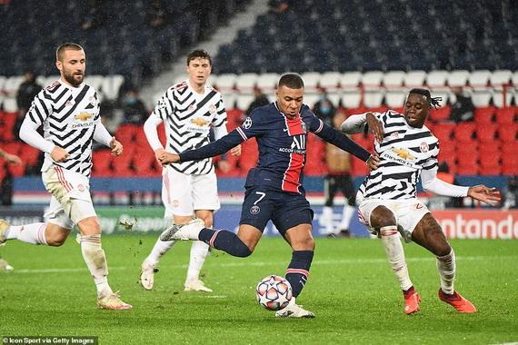 PSG chơi dưới sức và phải nhận thất bại trước Man Utd