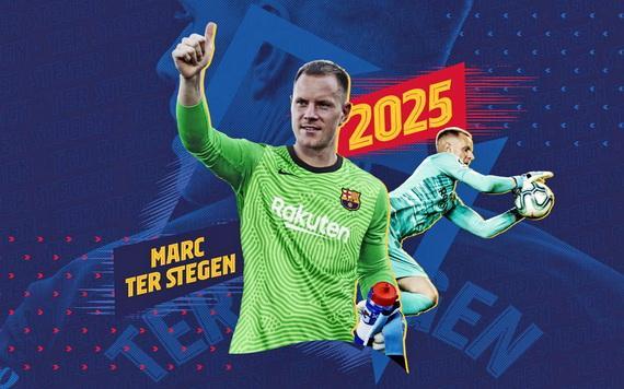 Thủ thành người Đức sẽ gắn bó với Barca tớ năm 2025