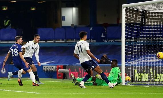 Anwar El-Ghazi (trái) quân bình tỉ số 1-1 cho Aston Villa