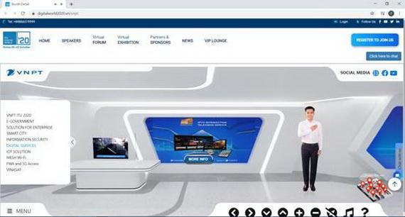 Gian hàng thực tế ảo của MyTV với nhiều thông tin tổng quan và đầy đủ về dịch vụ