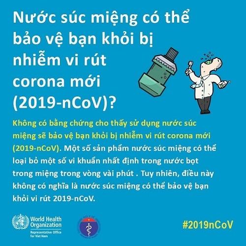 WHO trả lời 14 thắc mắc giúp bạn phòng lây nhiễm virus corona