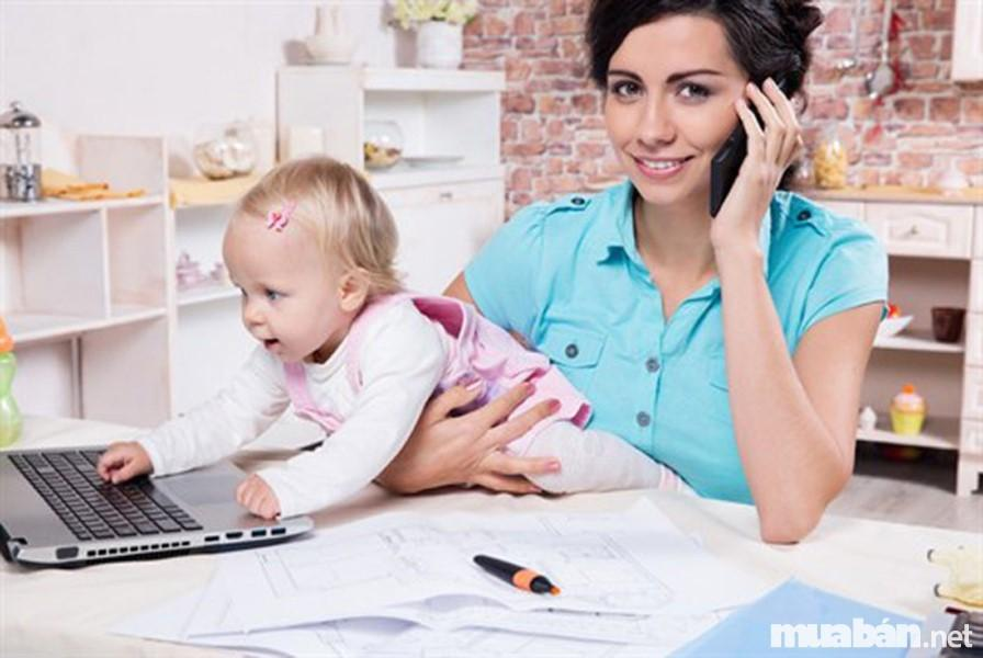 Top 5 công việc hái ra tiền cho mẹ bỉm sữa