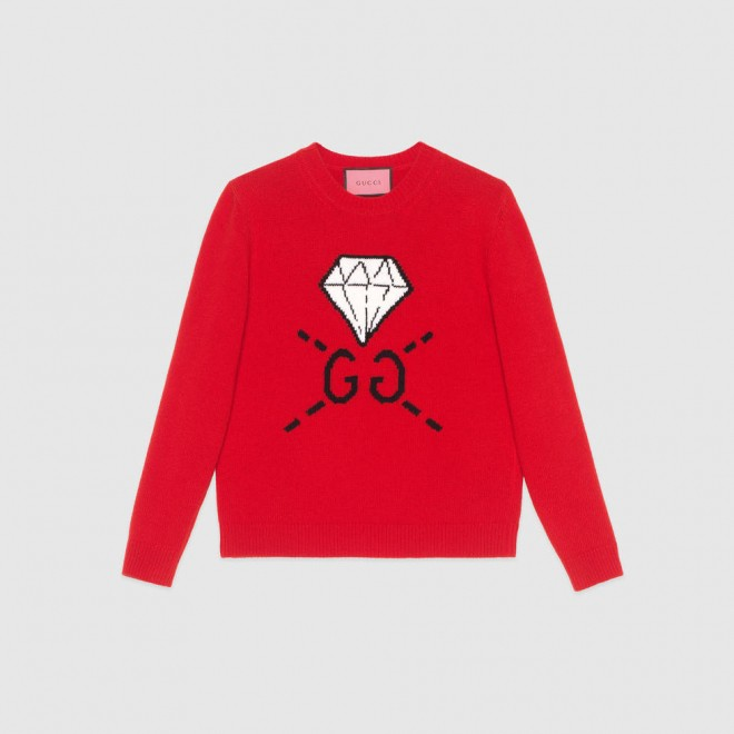 GucciGhost knit top 980 USD.